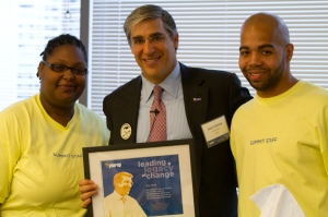 Shanique and Greg with Gerald Chertavian, Founder and CEO of Year Up